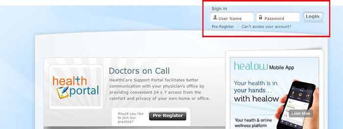 Patient Portal | Doctors on Call